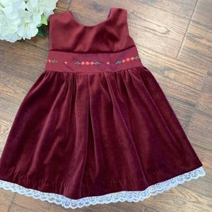 Beautiful Burgundy and satin accented Dress